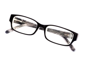 Eyeglasses against white background