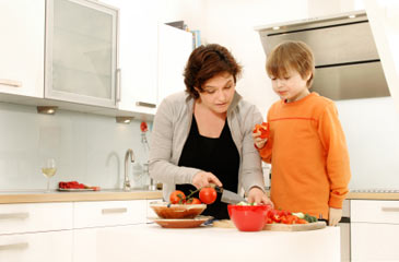 MotherandSonCookinginKitchen
