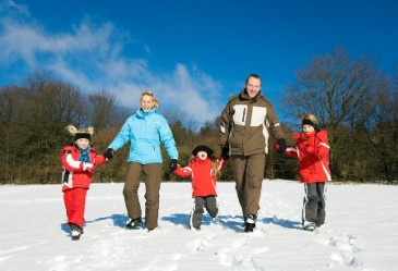 familywalkingoutsideinwinter