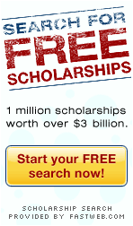 Search for FREE Scholarships from FastWeb.com