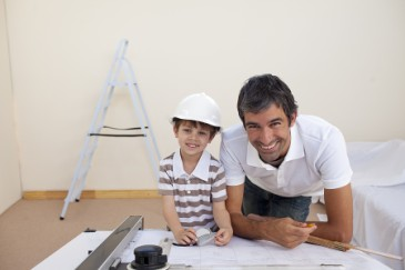 Tips for Learning Outside of School, Boy shadowing architect dad on the job as learning activity