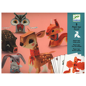 Folded paper animal kit