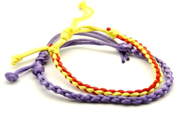 Colorful string friendship bracelets