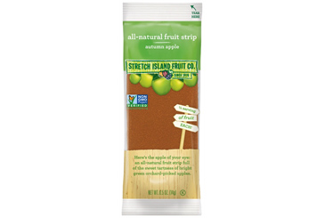 Healthy nut free school snack, fruit leather