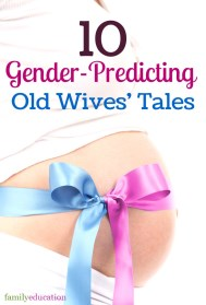 Gender Predicting Old Wives Tales Pinterest Graphic