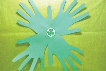 Handmade Four Leaf Clovers Art Activity For Kids