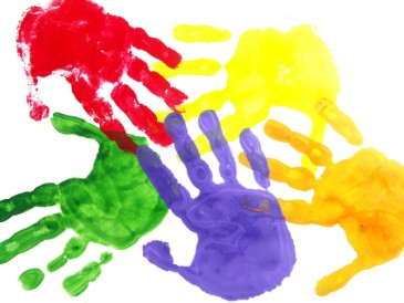 ColorfulHandprintsSymbolizingTeamwork