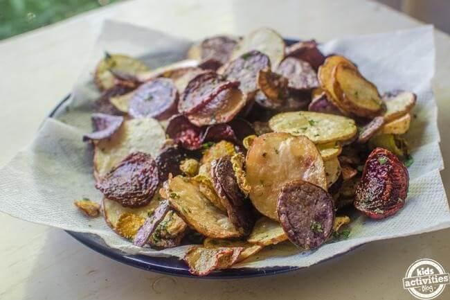 Pile of Vegetable Chips