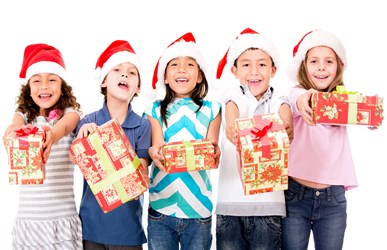 children give teacher holiday gifts