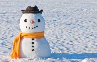 cute snowman outdoors