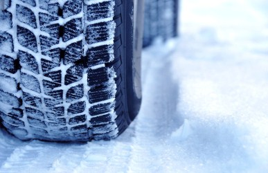winter driving safety with snow tires