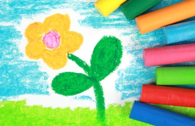 spring flower drawing by child