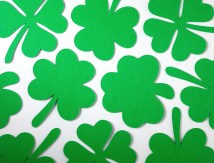 St. Patricks Day shamrock craft