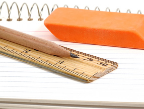 Pencil paper and ruler
