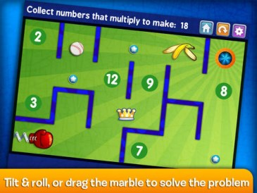 Marble Math Multiplication Lite, free app