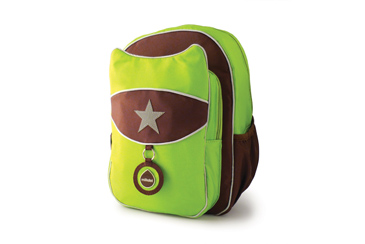 Milk Dot Top Kat Lime Green Back Pack