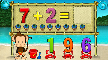 educational app for kids, Monkey Math School