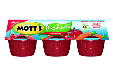 Healthy nut free school snack, Motts Medleys applesauce pack