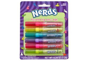 6 pack of Nerds flavored lip balm