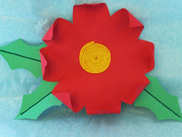 WinterCrafts,PaperPoinsettia