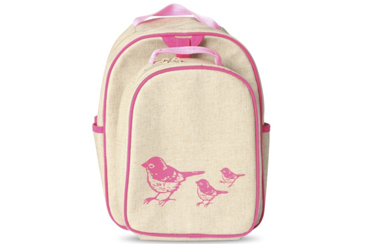 SoYoung Pink Birds Preschool Back Pack