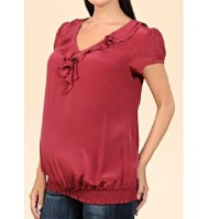 MaternityFashionTips,MaternityPinkBlouse