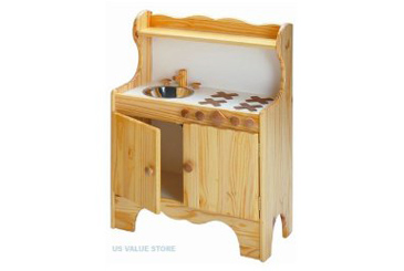 Best Toys Made in the USA, Wooden play kitchen for toddlers and preschoolers