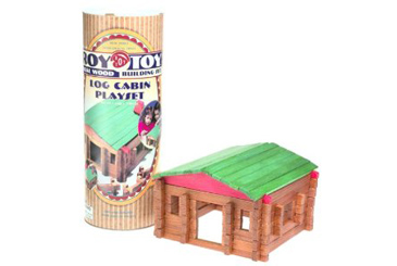 Best Toys Made in the USA, Roy Toy Lincoln log cabin set