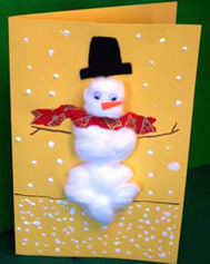 Cotton Ball Holiday Cards - FamilyEducation