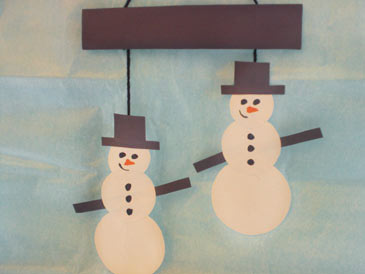 WinterCrafts,SnowmanMobile