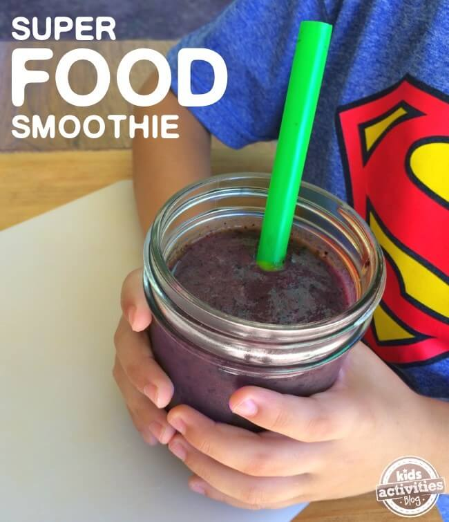 Child Drinking Vegetable Smoothie