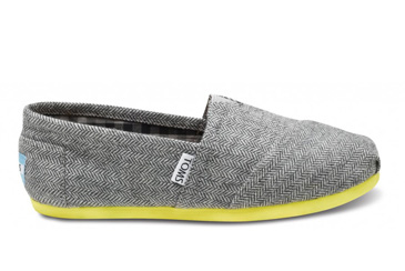 2011 Christmas Gifts That Give Back, Toms herringbone shoes with neon sole