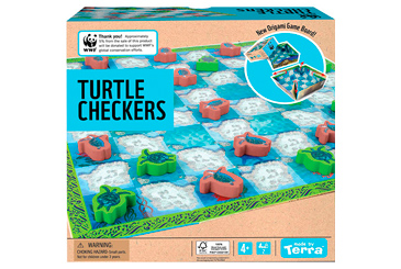 gifts that give back, WWF endangered animal checkers toy