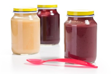 Homemade baby food recipes, pureed plums and peaches