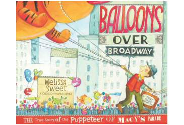 award winning childrens book, balloons over broadway