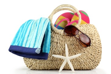 teacher gift, beach bag and towel