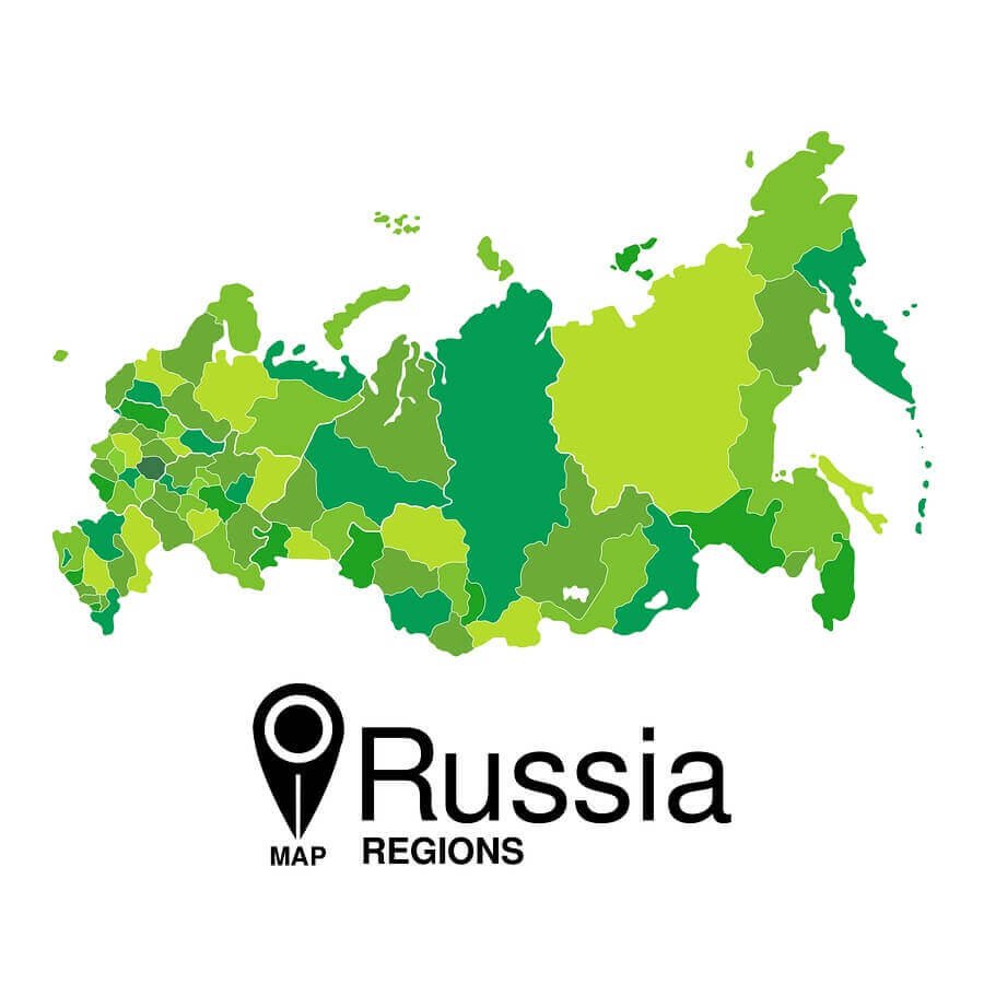 map of Russia, which covers more than 17 million square kilometers