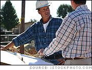 Foreman and Surveyor at Construction Site