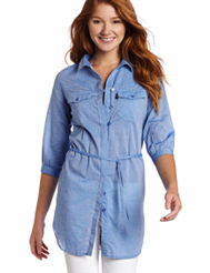 2012 Back to School Fashion, chambray denim shirt dress