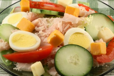 Nut-free lunch ideas, chef salad lunch