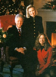 Chelsea Clinton, with Hillary and Bill