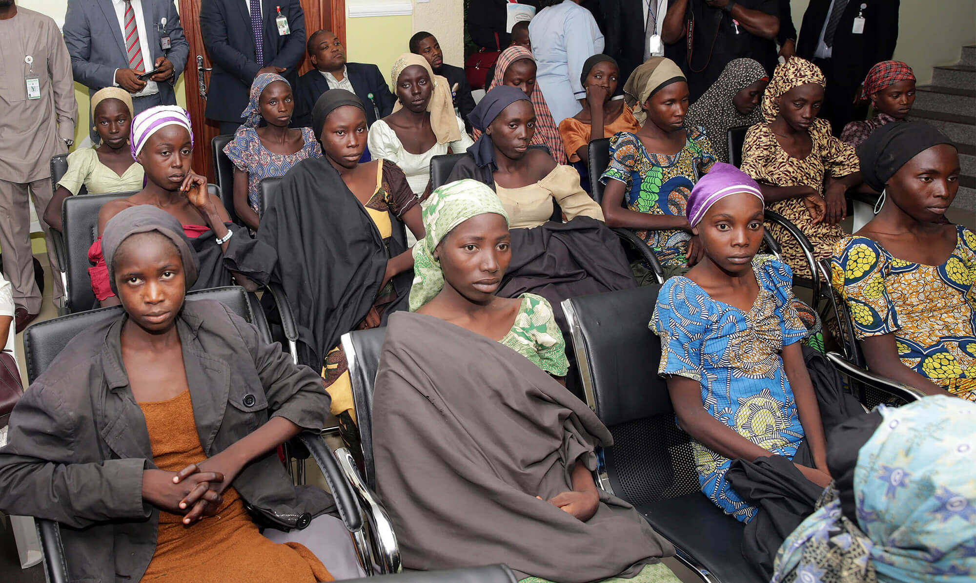Image of some of the released Chibok girls