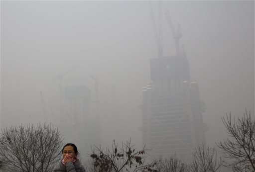 pollution in China in 2015