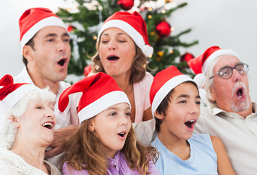 traditional christmas activity, family sing along