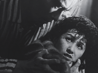 The tragically beautiful Takashi Shimura in Akira Kurosawa's Drunken Angel (1948).