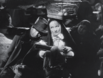 Shimmering black and white: still with Marlene Dietrich from The Devil Is a Woman.