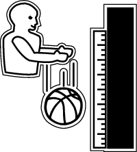 Use this chart to keep track of how high your basketball bounces at different levels of inflation. Be sure to drop the ball from a height of 1.8 meters (6 feet).