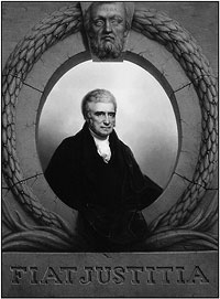 Official portrait of Chief Justice John Marshall painted by Rembrant Peale.