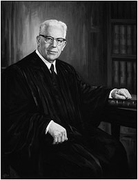 Chief Justice Earl Warren's official portrait painted by C. J. Fox.