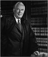 Chief Justice Warren E Burger's official portrait by photographer Robert Oaks.